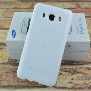 Силиконовый глянцевый непрозрачный чехол для Samsung Galaxy J5 (2016) Белый