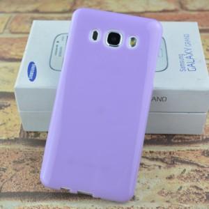 Силиконовый глянцевый непрозрачный чехол для Samsung Galaxy J5 (2016) Фиолетовый