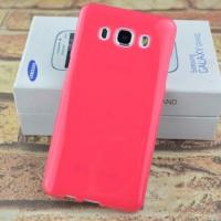 Силиконовый глянцевый непрозрачный чехол для Samsung Galaxy J5 (2016) Красный
