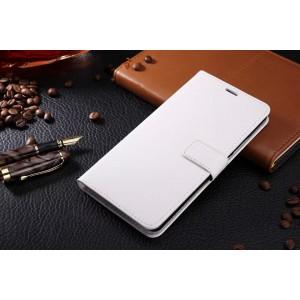 Глянцевый чехол портмоне подставка на магнитной защелке для Samsung Galaxy J5 (2016) Белый