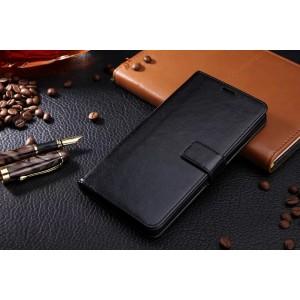 Глянцевый чехол портмоне подставка на магнитной защелке для Samsung Galaxy J5 (2016) Черный