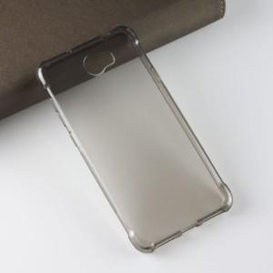 Силиконовый матовый полупрозрачный чехол с усиленными углами для Huawei Honor 5A/Y5 II Серый