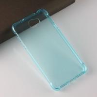 Силиконовый матовый полупрозрачный чехол с усиленными углами для Huawei Honor 5A/Y5 II Голубой