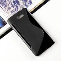 Силиконовый матовый полупрозрачный чехол с дизайнерской текстурой S для Huawei Honor 5A/Y5 II Черный