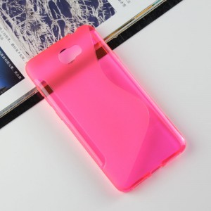 Силиконовый матовый полупрозрачный чехол с дизайнерской текстурой S для Huawei Honor 5A/Y5 II Розовый