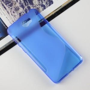 Силиконовый матовый полупрозрачный чехол с дизайнерской текстурой S для Huawei Honor 5A/Y5 II Синий
