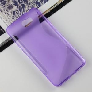 Силиконовый матовый полупрозрачный чехол с дизайнерской текстурой S для Huawei Honor 5A/Y5 II Фиолетовый