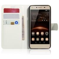 Чехол портмоне подставка на магнитной защелке для Huawei Honor 5A/Y5 II Белый