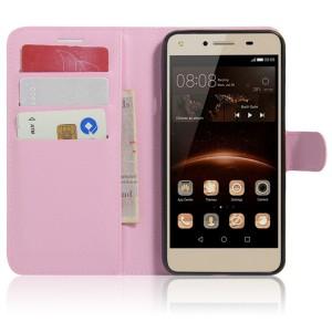 Чехол портмоне подставка на магнитной защелке для Huawei Honor 5A/Y5 II Розовый