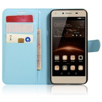 Чехол портмоне подставка на магнитной защелке для Huawei Honor 5A/Y5 II Голубой