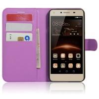 Чехол портмоне подставка на магнитной защелке для Huawei Honor 5A/Y5 II Фиолетовый
