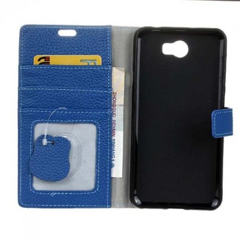Кожаный чехол портмоне подставка на силиконовой основе на магнитной защелке для Huawei Honor 5A/Y5 II