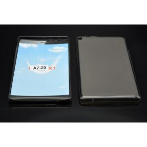 Силиконовый матовый полупрозрачный чехол для Lenovo Tab 2 A7-20  Серый