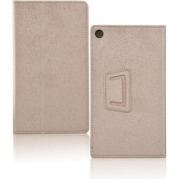 Чехол книжка подставка с рамочной защитой экрана текстура Золото для Lenovo Tab 2 A7-20