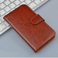 Чехол портмоне подставка на пластиковой основе на магнитной защелке для Alcatel One Touch POP 3 5.5  Черный