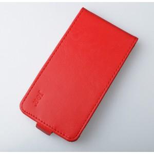 Чехол вертикальная книжка на пластиковой основе на магнитной защелке для Alcatel One Touch POP 3 5.5  Красный