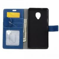 Кожаный чехол портмоне подставка на силиконовой основе на магнитной защелке для Alcatel OneTouch Pop Up  Черный