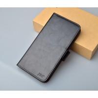 Чехол портмоне подставка на силиконовой основе на магнитной защелке для Alcatel OneTouch Pixi First  Черный