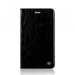 Винтажный кожаный чехол книжка подставка на транспарентной силиконовой основе для Huawei MediaPad T2 7.0 Pro Черный