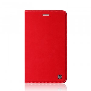 Винтажный кожаный чехол книжка подставка на транспарентной силиконовой основе для Huawei MediaPad T2 7.0 Pro Красный