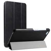 Сегментарный чехол книжка подставка на непрозрачной поликарбонатной основе для Huawei MediaPad T2 7.0 Pro  Черный