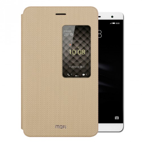 Чехол книжка подставка на непрозрачной силиконовой основе с тканевым покрытием и окном вызова для Huawei MediaPad T2 7.0 Pro