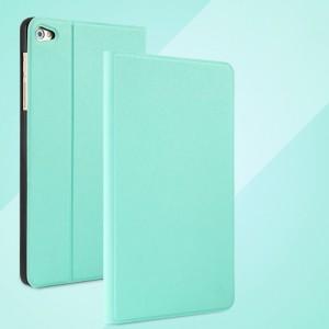 Чехол книжка подставка на непрозрачной поликарбонатной основе с тканевым покрытием для Huawei MediaPad T2 7.0 Pro Зеленый