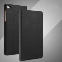 Чехол книжка подставка на непрозрачной поликарбонатной основе с тканевым покрытием для Huawei MediaPad T2 7.0 Pro Черный