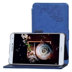 Чехол книжка подставка текстура Узоры на непрозрачной поликарбонатной основе для Huawei MediaPad T2 7.0 Pro