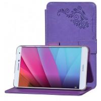 Чехол книжка подставка текстура Узоры на непрозрачной поликарбонатной основе для Huawei MediaPad T2 7.0 Pro Фиолетовый