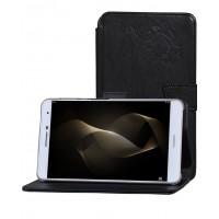 Чехол книжка подставка текстура Узоры на непрозрачной поликарбонатной основе для Huawei MediaPad T2 7.0 Pro Черный
