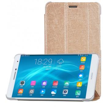 Сегментарный чехол книжка подставка текстура Линии на полупрозрачной поликарбонатной основе для Huawei MediaPad T2 7.0 Pro