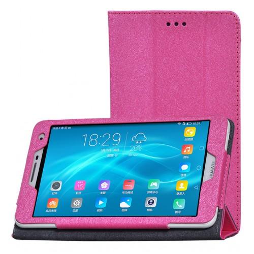 Чехол книжка подставка текстура Узоры с рамочной защитой экрана для Huawei MediaPad T2 7.0 Pro