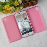 Силиконовый матовый полупрозрачный чехол для HTC Desire 830  Розовый