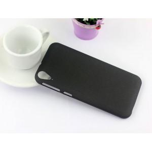 Пластиковый непрозрачный матовый чехол для HTC Desire 830  Черный