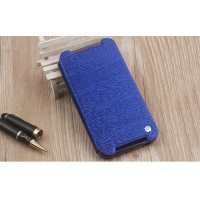 Чехол горизонтальная книжка подставка текстура Дерево на силиконовой основе для HTC Desire 830 Синий
