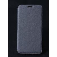 Чехол горизонтальная книжка на силиконовой основе с отсеком для карт текстура Золото для HTC Desire 830  Серый