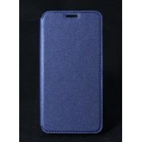 Чехол горизонтальная книжка на силиконовой основе с отсеком для карт текстура Золото для HTC Desire 830  Синий