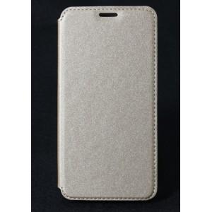 Чехол горизонтальная книжка на силиконовой основе с отсеком для карт текстура Золото для HTC Desire 830  Бежевый