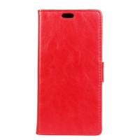 Чехол портмоне подставка на силиконовой основе на магнитной защелке для HTC Desire 830 Красный