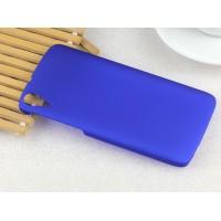 Пластиковый непрозрачный матовый чехол для HTC Desire 828  Синий