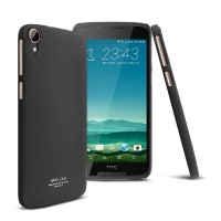 Пластиковый непрозрачный матовый чехол с повышенной шероховатостью для HTC Desire 828  Черный