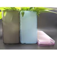 Силиконовый матовый полупрозрачный чехол для HTC Desire 828