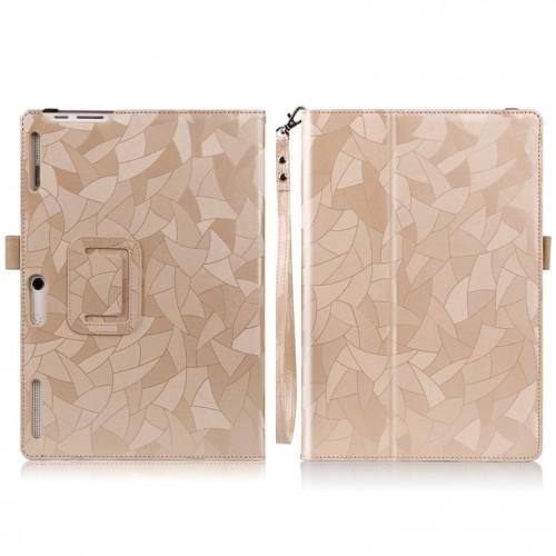Чехол книжка подставка текстура Узоры с рамочной защитой экрана, крепежом для стилуса и поддержкой кисти для Lenovo Tab 2 A10-30