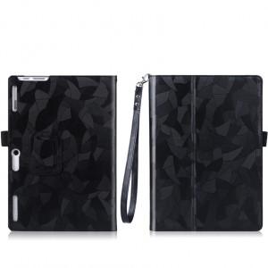 Чехол книжка подставка текстура Узоры с рамочной защитой экрана, крепежом для стилуса и поддержкой кисти для Lenovo Tab 2 A10-30/Tab 10 TB-X103F