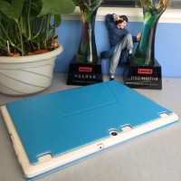 Чехол книжка подставка на транспарентной силиконовой основе для Lenovo Tab 2 A10  Голубой