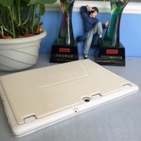 Чехол книжка подставка на транспарентной силиконовой основе для Lenovo Tab 2 A10  Белый