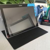 Чехол книжка подставка на полупрозрачной силиконовой основе для Lenovo Tab 2 A10-30