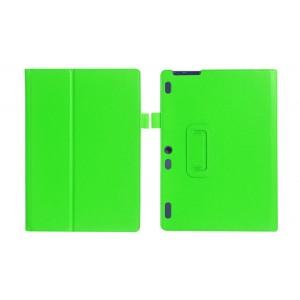 Чехол книжка подставка с рамочной защитой экрана и крепежом для стилуса для Lenovo Tab 2 A10-30/Tab 10 TB-X103F