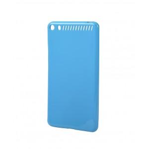 Силиконовый матовый непрозрачный чехол для Lenovo Phab Plus Голубой